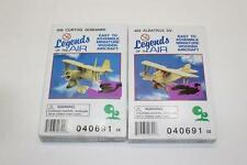 Legends of The Air Miniature Wooden Aircraft Airplane Model Kit 2 Different Kits