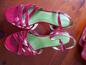 Camper Shoes Sandals Red Ladies Women's Sz 41 Sz 10