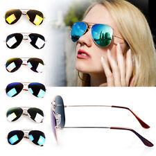 7 PCS Unisex Women Men Vintage Sunglasses Aviator Mirror Len Glasses Eyewear