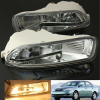 Pair Front Driving Fog Lamps Light - Clear Lens For Toyota Corolla 2003 2004 NEW