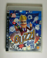 Buzz Quiz TV (Sony PlayStation 3, 2008) Complete