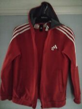 Red Adidas hooded top size 152 11-12 years