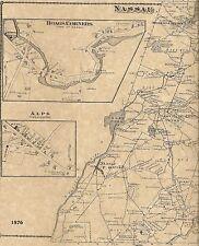 Nassau Stephentown Hoag Corners Brainard NY 1876 Maps Homeowners Names Shown