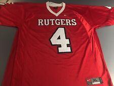 RUTGERS SCARLET KNIGHTS Majestic Football Jersey  Mens XL NCAA #4 University