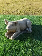 Solid concrete pig garden ornament,pigs,collection only