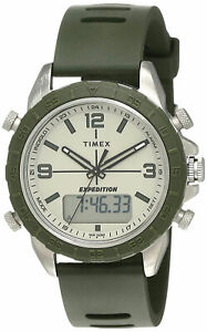 Timex TW4B17100 Expedition Men's Analog/Digital Watch Green Silicone Strap