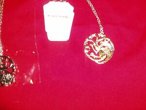 """6 Game of Thrones Targaryen A Song of Fire & Ice Silver Tone 26"""" Necklaces  New"""