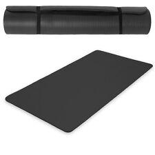 Yogamatte Gymnastikmatte Boden Fitness Sport Turnmatte Matte schwarz 180x60x1,5