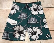 Mens Billabong Platinum Stretch Kamehameha Hawaiian Surf Board Shorts Hawaii 32