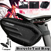 Bicycle Bikes Saddle Bag Seat Tail ​Cycling Frame Waterproof Storage Pouch