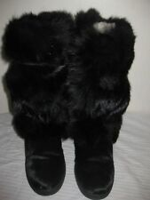 ELISA  APRES SKI  FUR WOMEN WEDGE BOOTS SHOES SIZE 38 / 7.5 MADE IN ITALY !!!!
