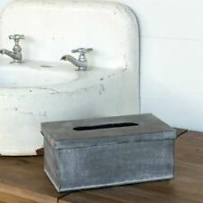 GALVANIZED TISSUE BOX COVER Farmhouse Decor