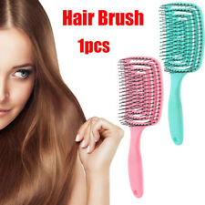 Anti-static Curved Vent Salon Hairdressing Tool Rows Comb Hair Brush v