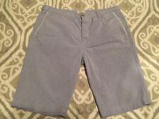 Seven For All Mankind Men's Flat Front Blue Shorts, Sz 34, 100% Cotton