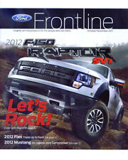 2012 FORD FRONTLINE MAGAZINE featuring the F-150 RAPTOR October / November 2011