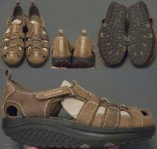 Skechers Sport Trim Step Walking Sandals Women's US 9 UK 6 EUR 39 Brown Leather