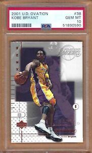 2001 Upper Deck Ovation Kobe Bryant # 38 PSA 10 GEM MINT