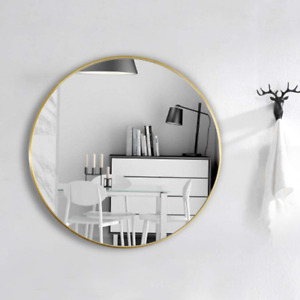 Luxury Gold Round Frame Home Bathroom Glass Wall Mounted Vanity Mirror 50cm