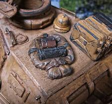 WWII WWI Stumgepäck Tornister Rucksack Wehrmacht Deko Zubehör RC Panzer LKW 1/16