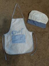 """New listing """"Chef"""" Child's Apron & Chef's Hat - Apx. Size 4-6 - Vguc"""