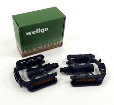 Wellgo B230 Mountain Bike Platform Pedals, Black