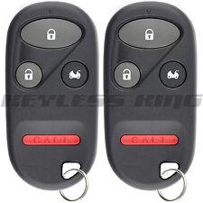 2x Keyless Entry Remote Key Fob for 2001-2008 Honda Goldwing GL1800 Motorcycle