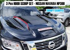 FRONT BONNET HOOD SCOOP SET FOR NISSAN NP300 NAVARA D23 2015 - 2018 V3