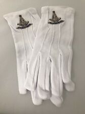 MASONIC FREEMASONS PAST MASTER EMBROIDERED DRESS GLOVES