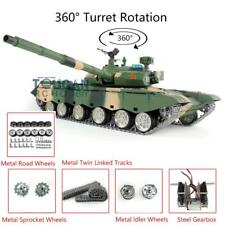 Henglong 1/16 6.0 Chinese 3899A Rc Tank 360° Turret Metal Tracks W/ Linkages