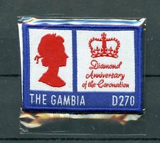 Gambia 2013 MNH Queen Elizabeth II Diamond Coronation 1v Embroidered Stamps