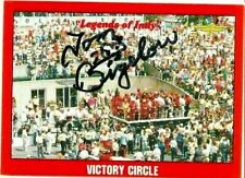 Tom Bigelow signed 1992 LEGENDS OF INDY trading card RACING CART #87 VICTORY CIR