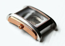 POLJOT Gehäuse ETA 2671 Eckig Bicolor Rose Gold Vergoldet Watch Case Square Bic