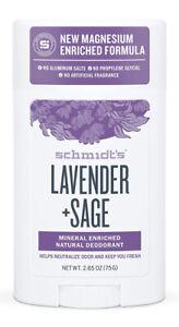 Schmidt's Lavender Sage Natural Deodorant Schmidt Vegan New