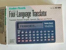 1993 Radio Shack Lcd Four-Language Translator in box and Works!