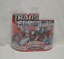 Robot Heroes OPTIMUS PRIME versus BLACKOUT Transformers 2007 Movie MOSC