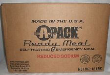 A-Pack MREs Emergency Survival Prepper Meals Ready to Eat Red. Sodium Case of 12