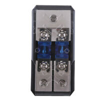2Way Power Distribution Block 4/8 AWG Gauge AGU Fuse Holder 60A(2in 1out)
