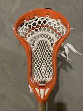 NEW Men's Warrior Cobra X Pro Strung Custom Lacrosse Head, Orange NWT