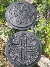 2 celtic round tile molds plaster rapid set cement all molds moulds