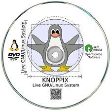 Knoppix 8.2 Linux Live System auf DVD, inkl.Tor Browser, Office Software, Grafik