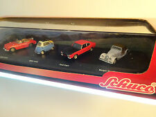 Schuco Set - MGB Cabrio, BMW Isetta, Ford Capri, Morgan Plus Eight - 1:72  *NEU*