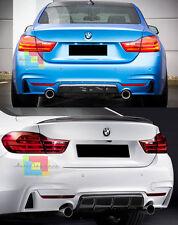 SOTTO PARAURTI PER BMW SERIE 4 F32 F33 F36 DIFFUSORE POSTERIORE M DOPPIO SCARICO
