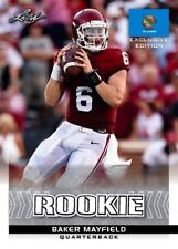 BAKER MAYFIELD 2018 LEAF EXCLUSIVE OKLAHOMA STATE FLAG ROOKIE CARD! NFL #1 PICK!