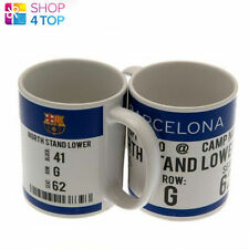 FC BARCELONA CERAMIC MUG CUP COFFEE OFFICIAL FOOTBALL SOCCER CLUB TEAM NEW