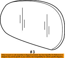 Ford Oem Door Rear Side View-Mirror Glass Right 8L8Z17K707A