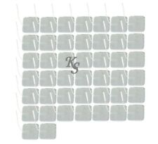 "Tens Unit Electrodes 2"" Square 44 Pads Massage - FREE SHIPPING"
