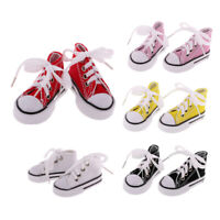 5 Pairs High Top Sneaker Lace Up Canvas Shoes for 1/4 BJD SD DOD LUTS Dolls