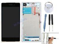 ECRAN LCD + VITRE TACTILE SUR CHASSIS POUR SONY XPERIA Z2 D6502 D6503 L50 BLANC