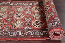 Vintage All-Over Floral Bidjar Runner Rug Vegetable Dye Hand-Knotted Wool 3'x10'