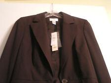 Ann taylor loft brown blazer/suit jacket size 6 petite